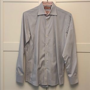 Thomas Pink Button Down Dress Shirt 15.5